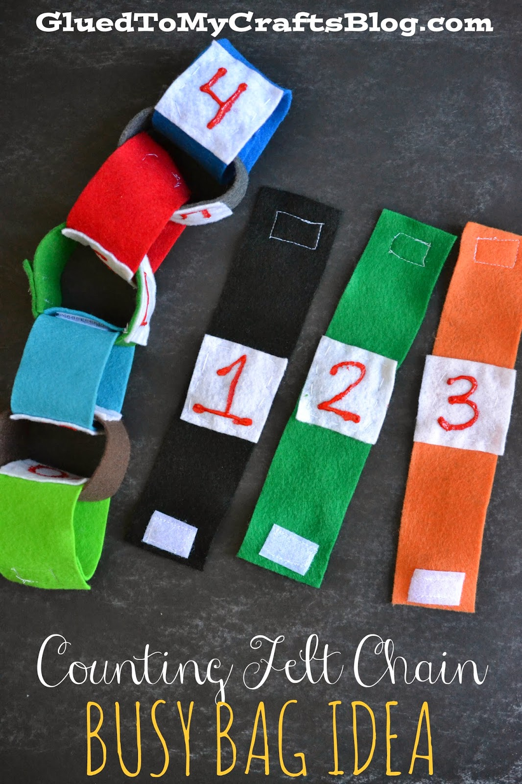 Counting Felt Chain {Busy Bag Idea}