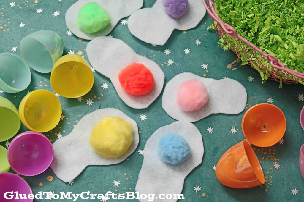 Egg Matching Game From Leftover Plastics Easter Eggs & Felt
