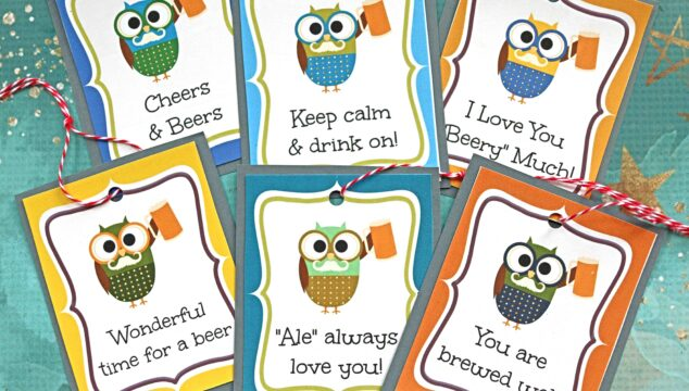 Free Beer Gift Tag Printable - Father' Day Gift Idea From The Whole Family!
