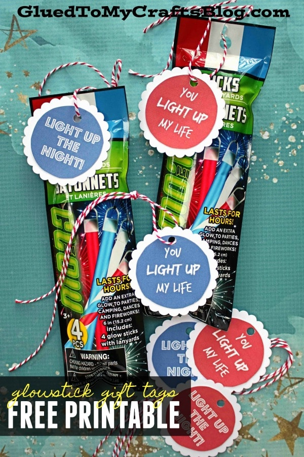 """Light Up"" Glow Stick Gift Favor Printable"
