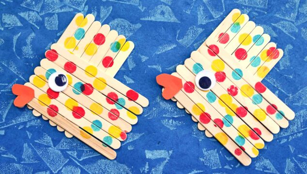 Popsicle Stick Fish - Kid Craft Tutorial For Summer