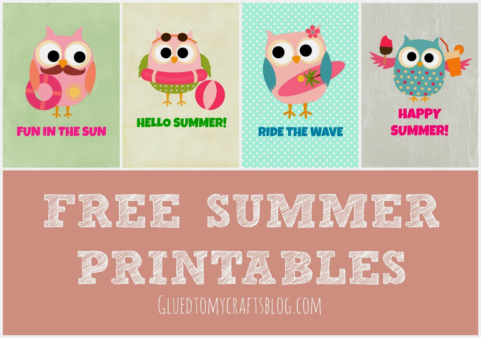 FREE Owl Themed Summer Printables