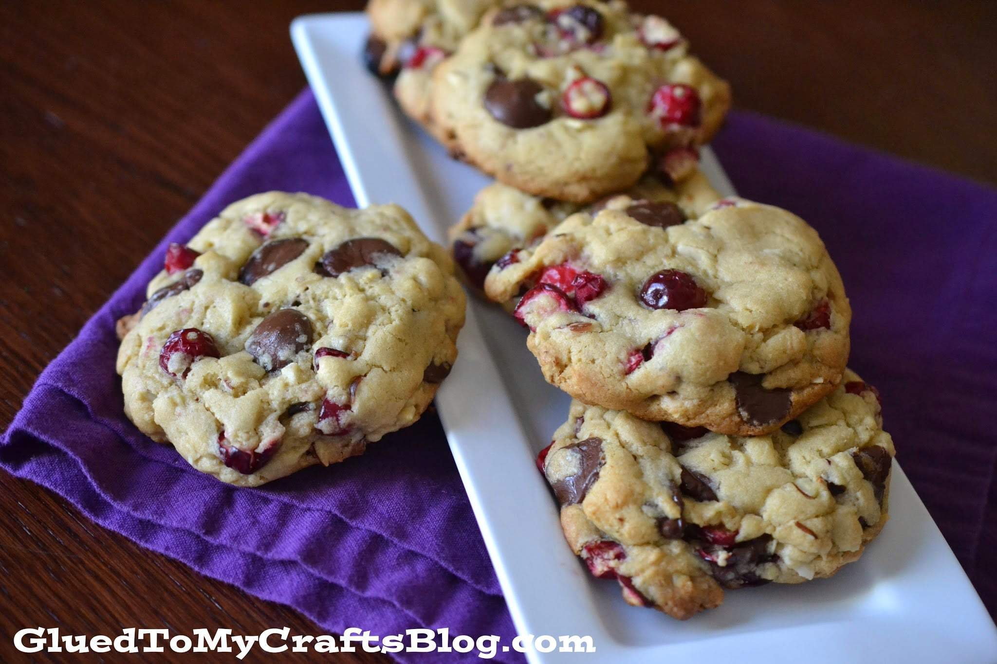 Chocolate, Cranberry, Banana Bread Cookies {Recipe}