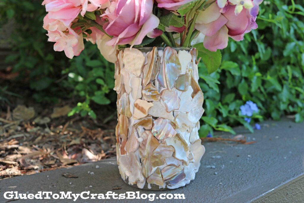 How To Make A Seashell Covered Vase - Craft Tutorial