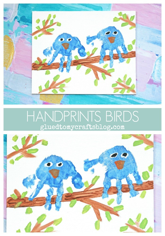 Handprint Birds On A Branch - Keepsake Idea