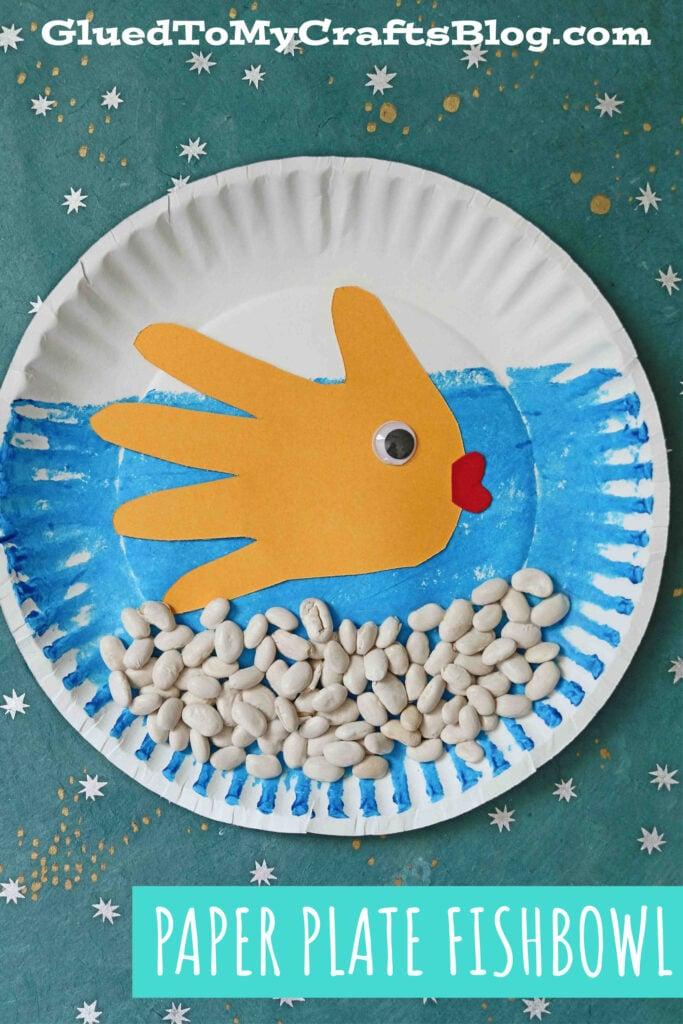 Paper Plate Fishbowl - Kid Craft Tutorial w/Handprint Fish