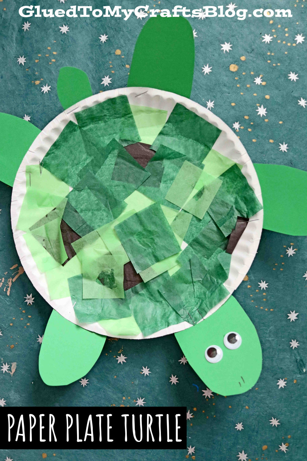 Paper Plate Turtle - Super EASY Kid Craft Idea For Summer!