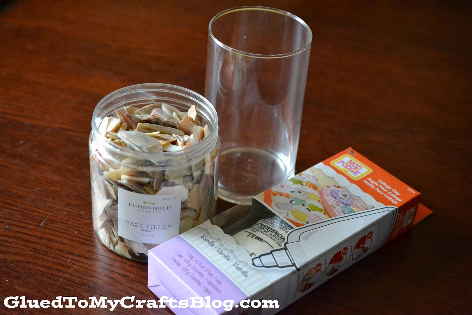 DIY Shell Vase {Crafts}
