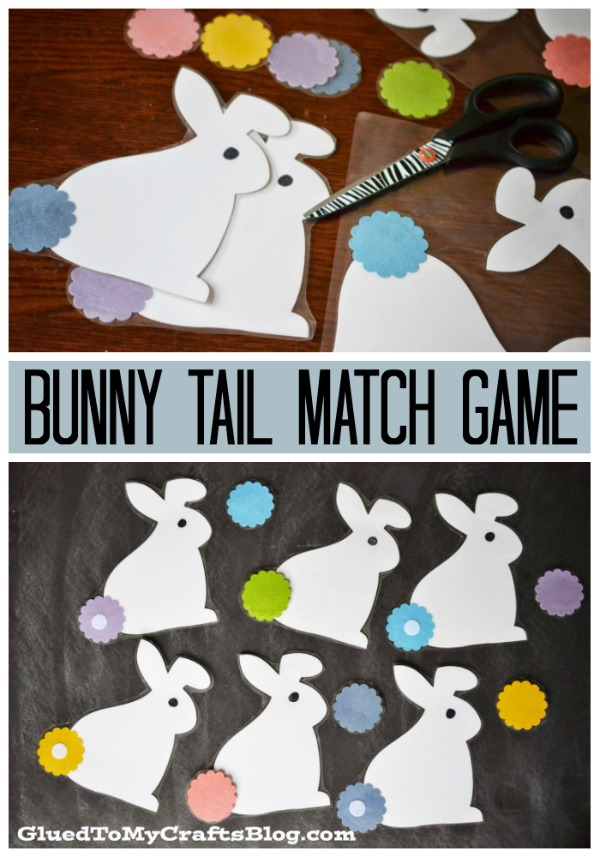 Bunny Tail Match Game - DIY Busy Bag Idea For Spring