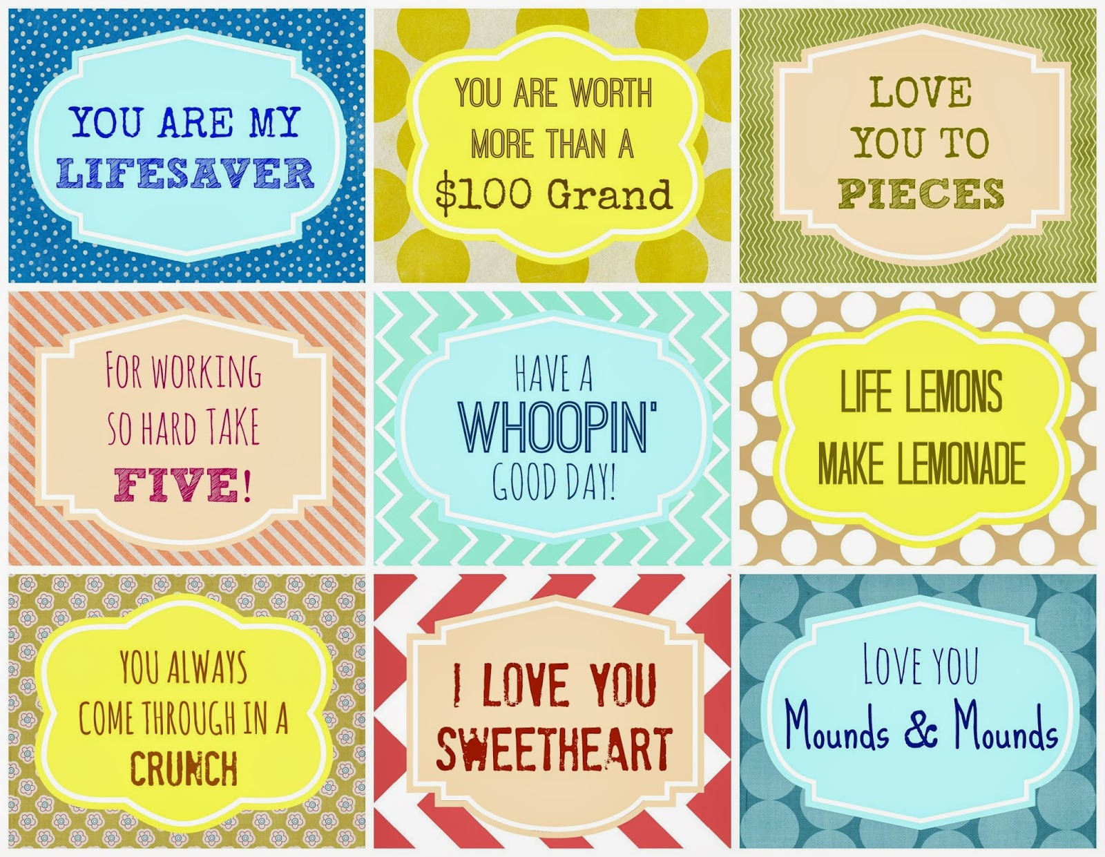 Candy Grams {Free Printable}