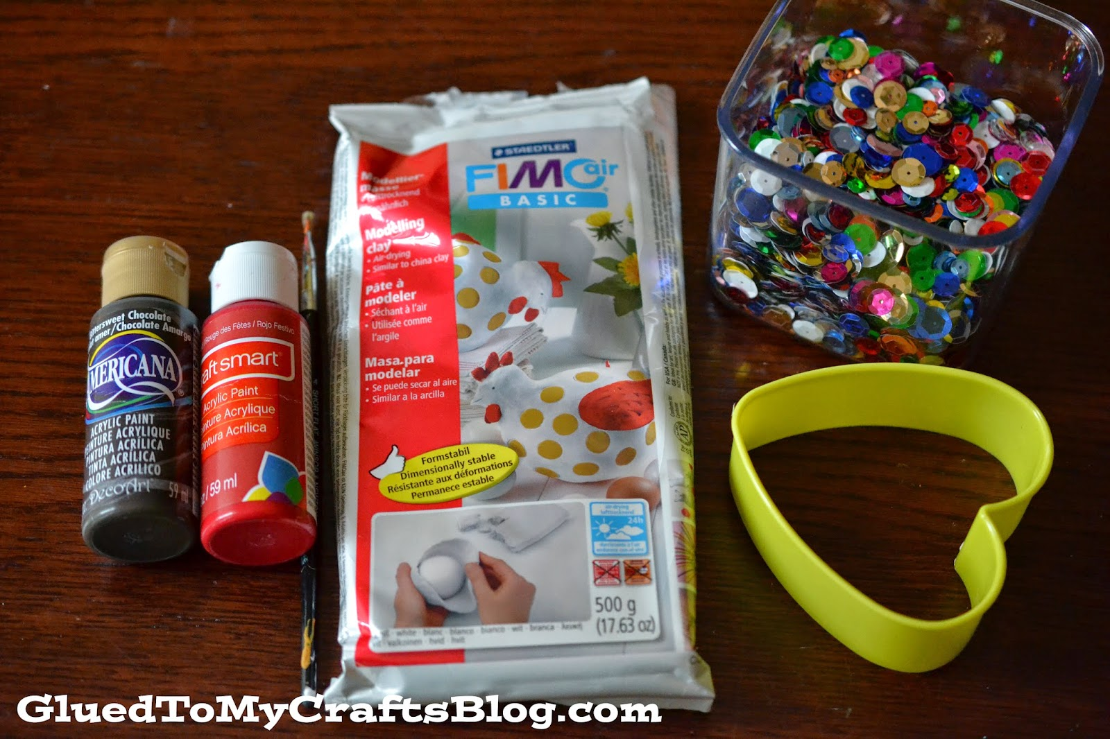 The Clay Magnet Supplies For This Craft