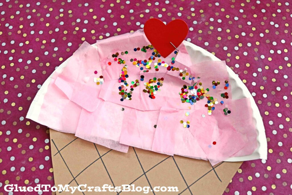 Paper Plate Ice Cream - Kid Craft Idea For Summer