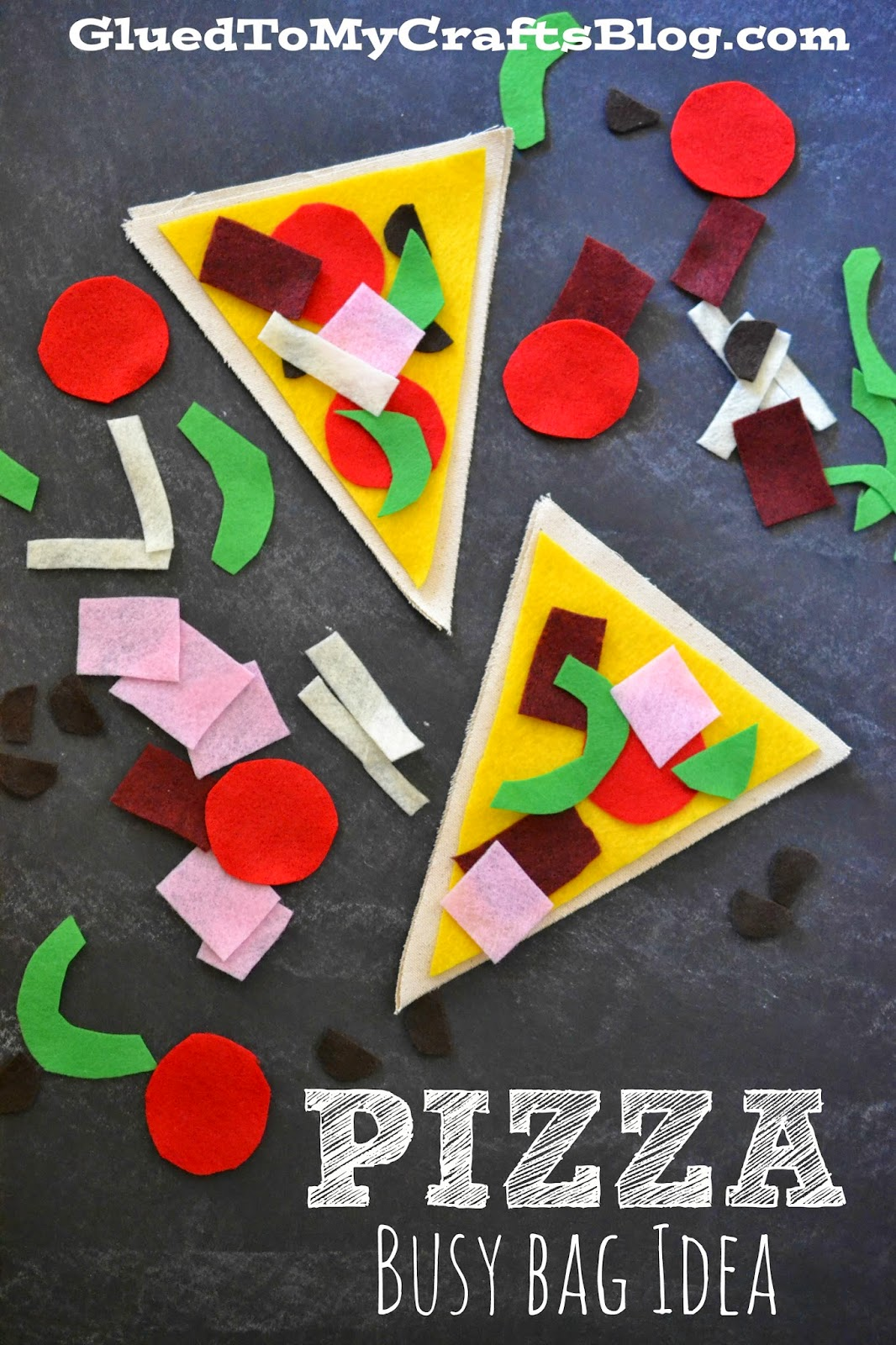 Pretend Play Pizza Making {Busy Bag Idea}
