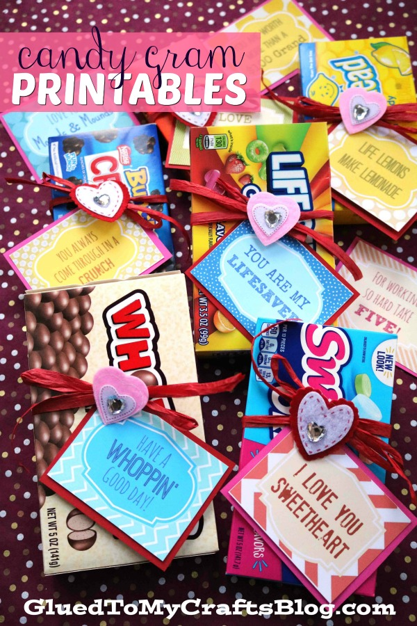 Valentine's Day Inspired Candy Grams - Free Printable Included!
