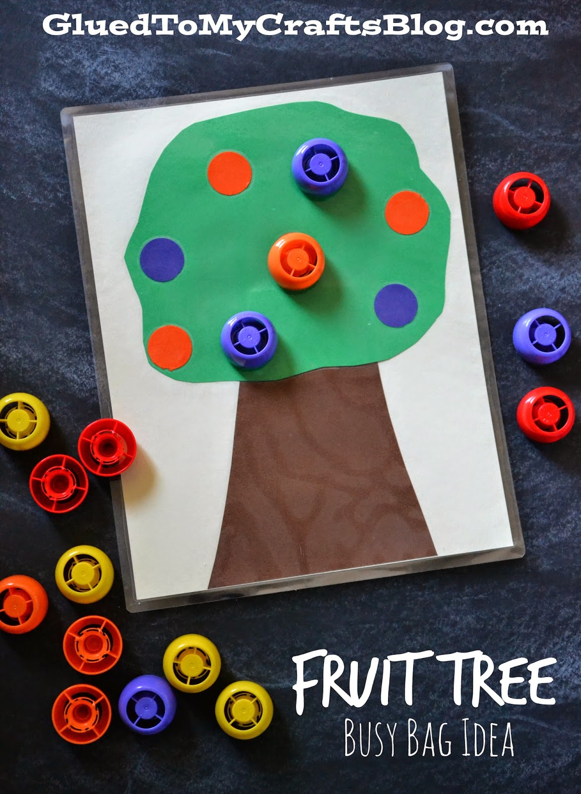 Fruit Tree {Busy Bag Idea}