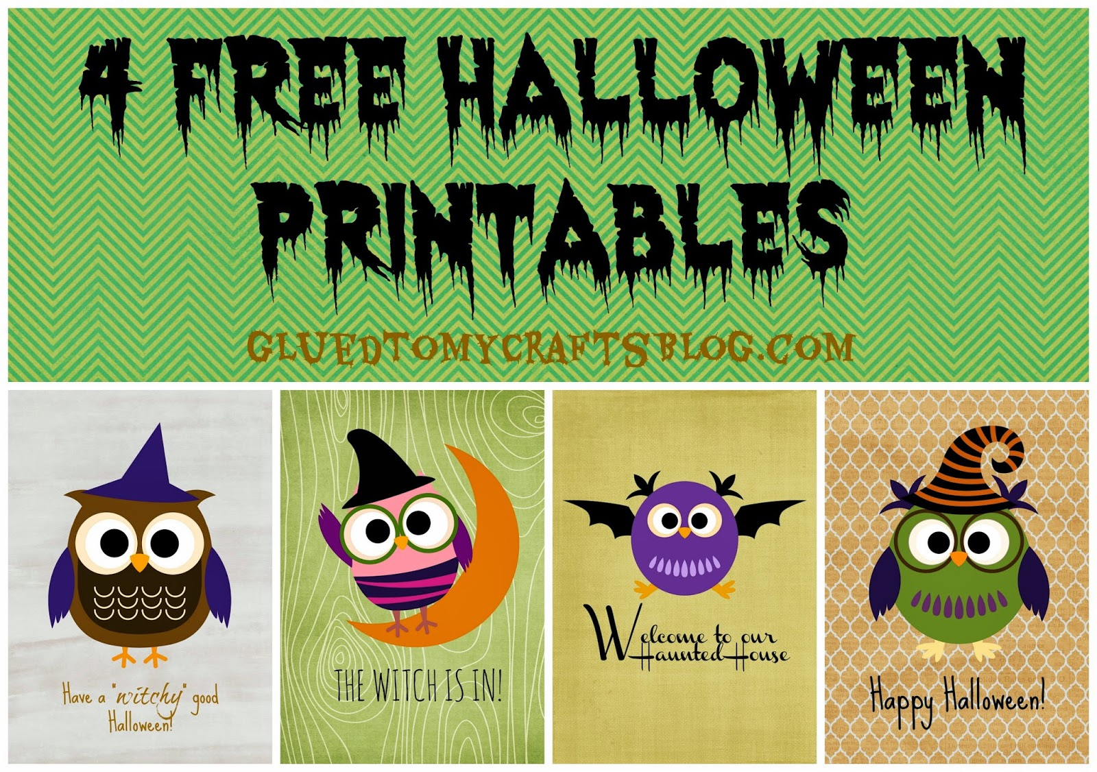 Free Owl-Themed Halloween Printables