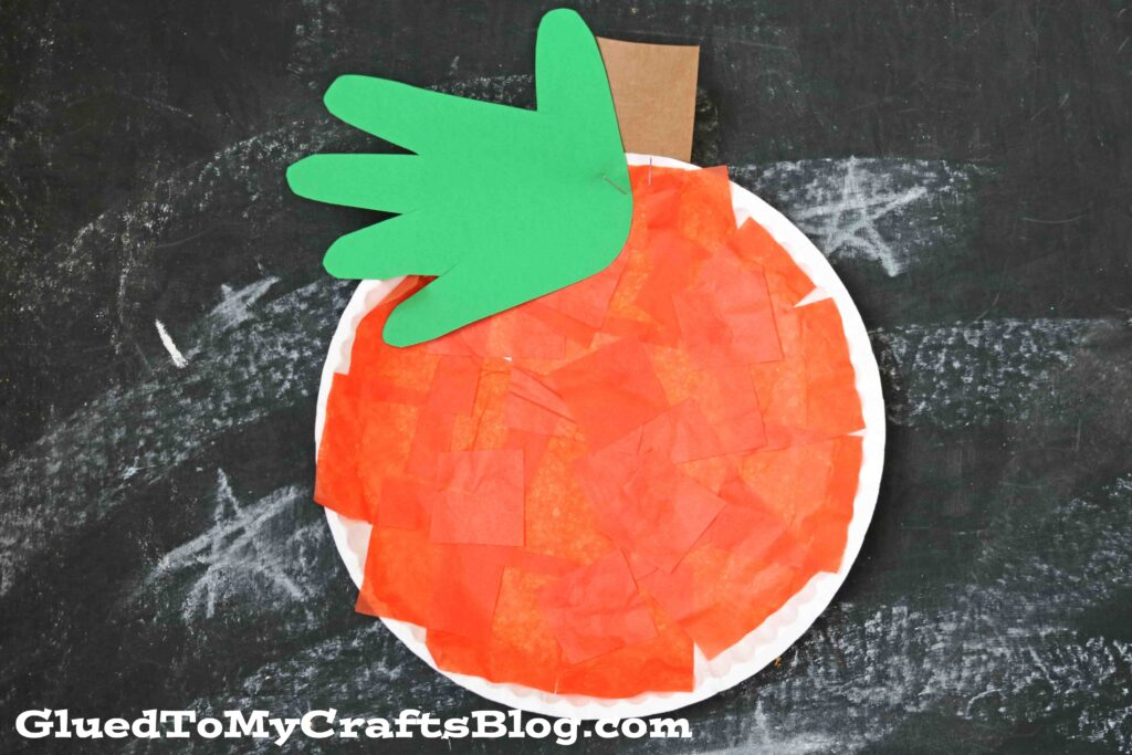 Paper Plate Pumpkin - Kid Craft Idea