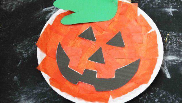 Paper Plate Pumpkin - Kid Craft Idea