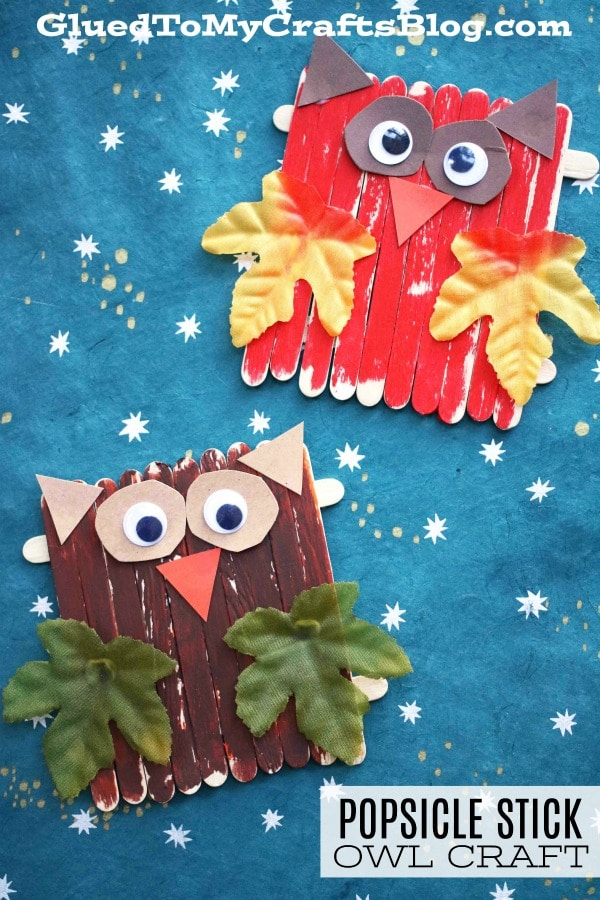 Popsicle Stick Owls {Kid Craft}