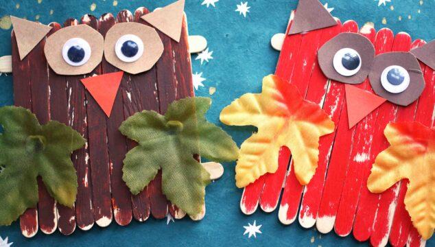 Popsicle Stick Owls {Kid Craft}