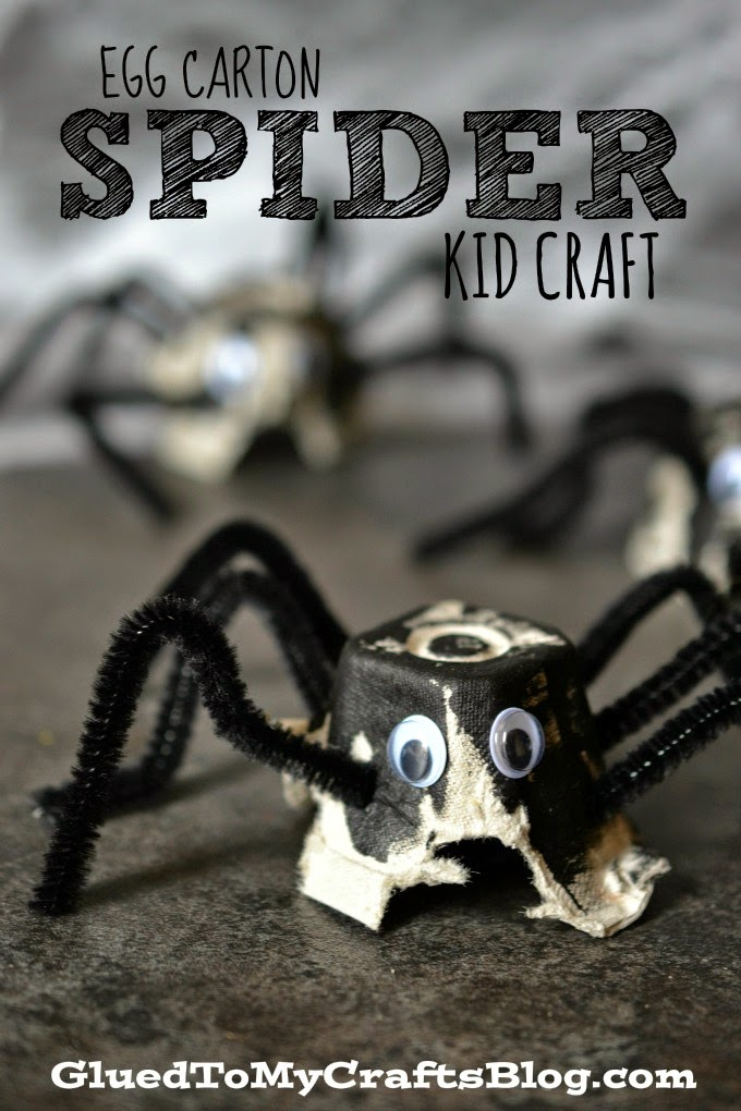 Egg Carton Spider {Kid Craft}