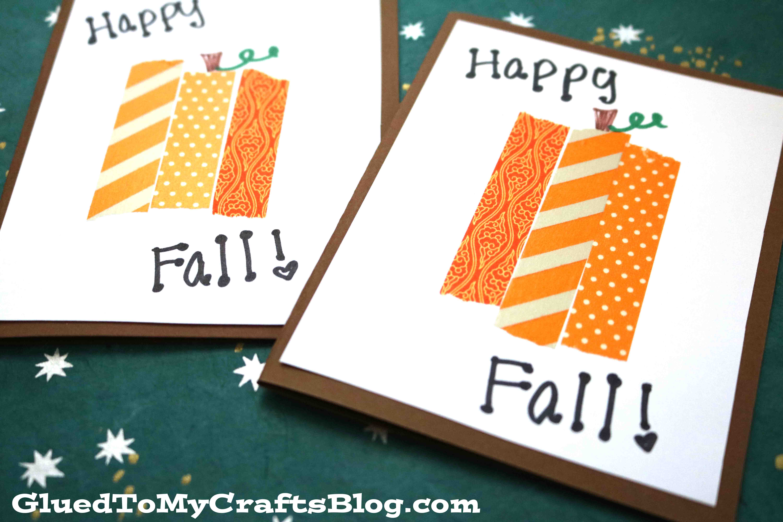 DIY Washi Tape Pumpkin Cards