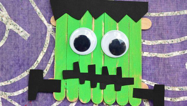 Popsicle Stick Frankenstein - Halloween Kid Craft