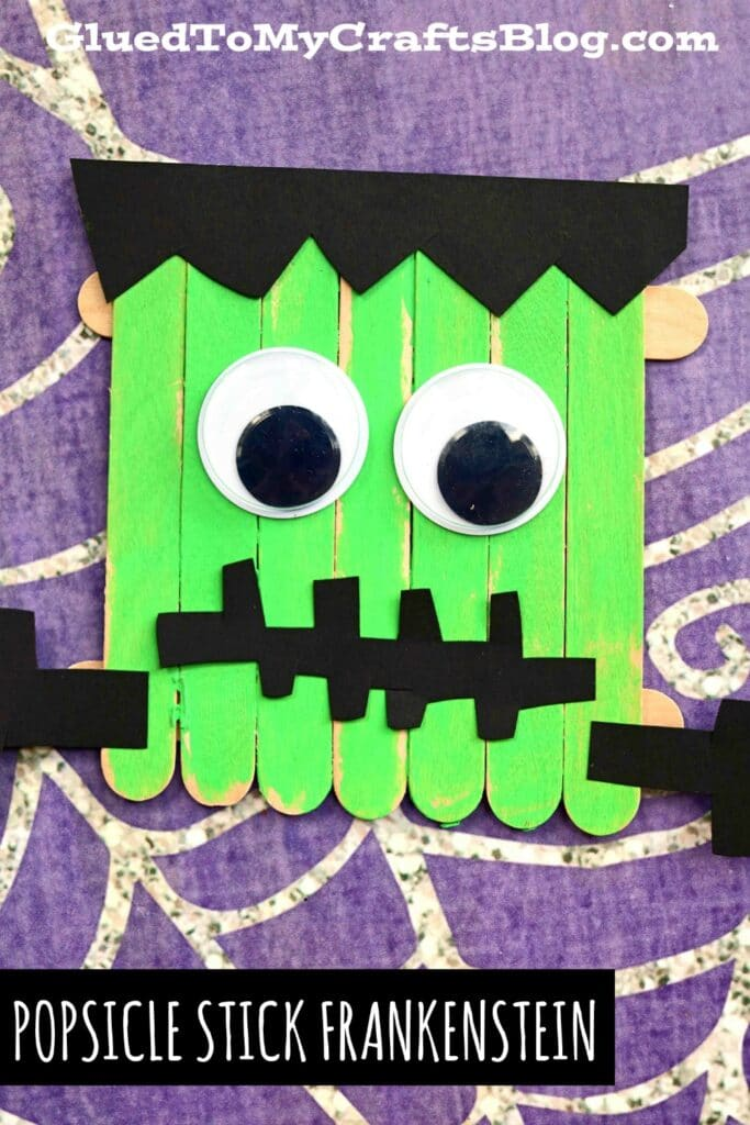Popsicle Stick Frankenstein - Halloween Kid Craft