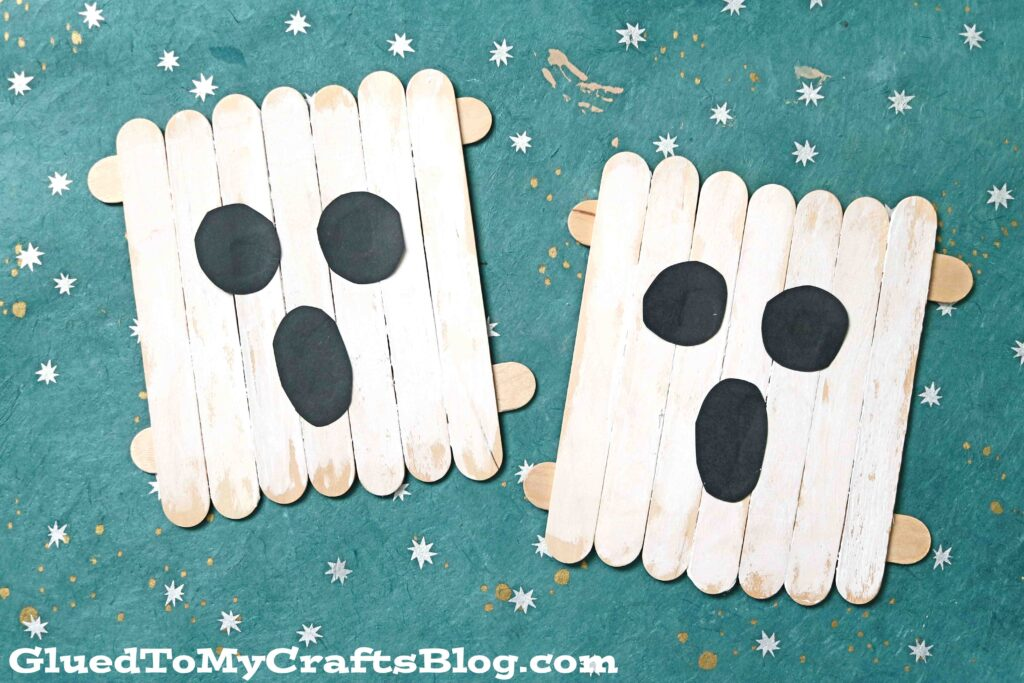 Popsicle Stick Ghosts - Kid Craft Idea For Halloween