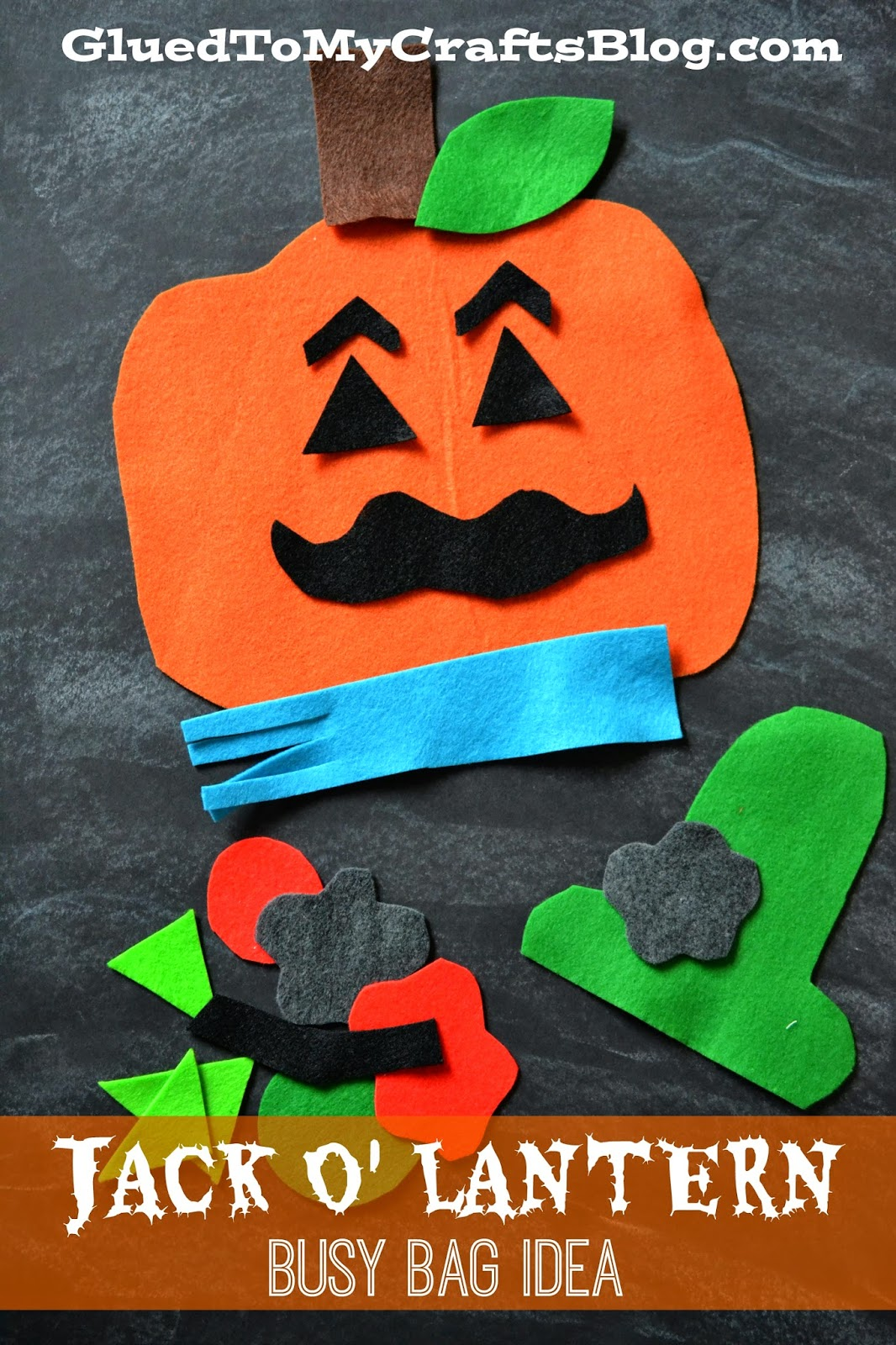 Felt Jack O' Lantern {Busy Bag Idea}