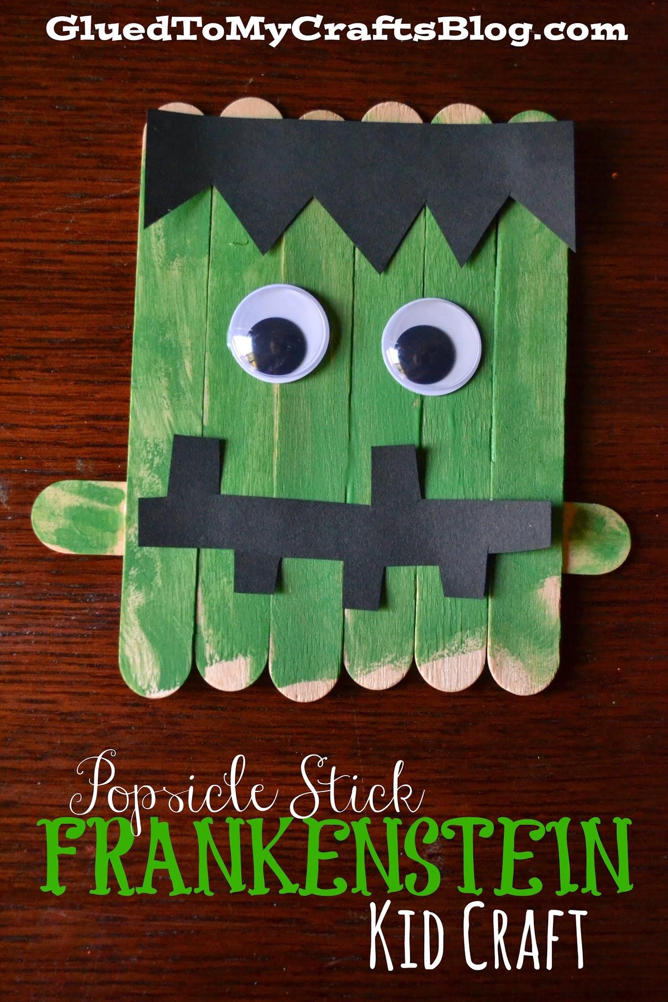 Popsicle Stick Frankenstein – Halloween Kid Craft