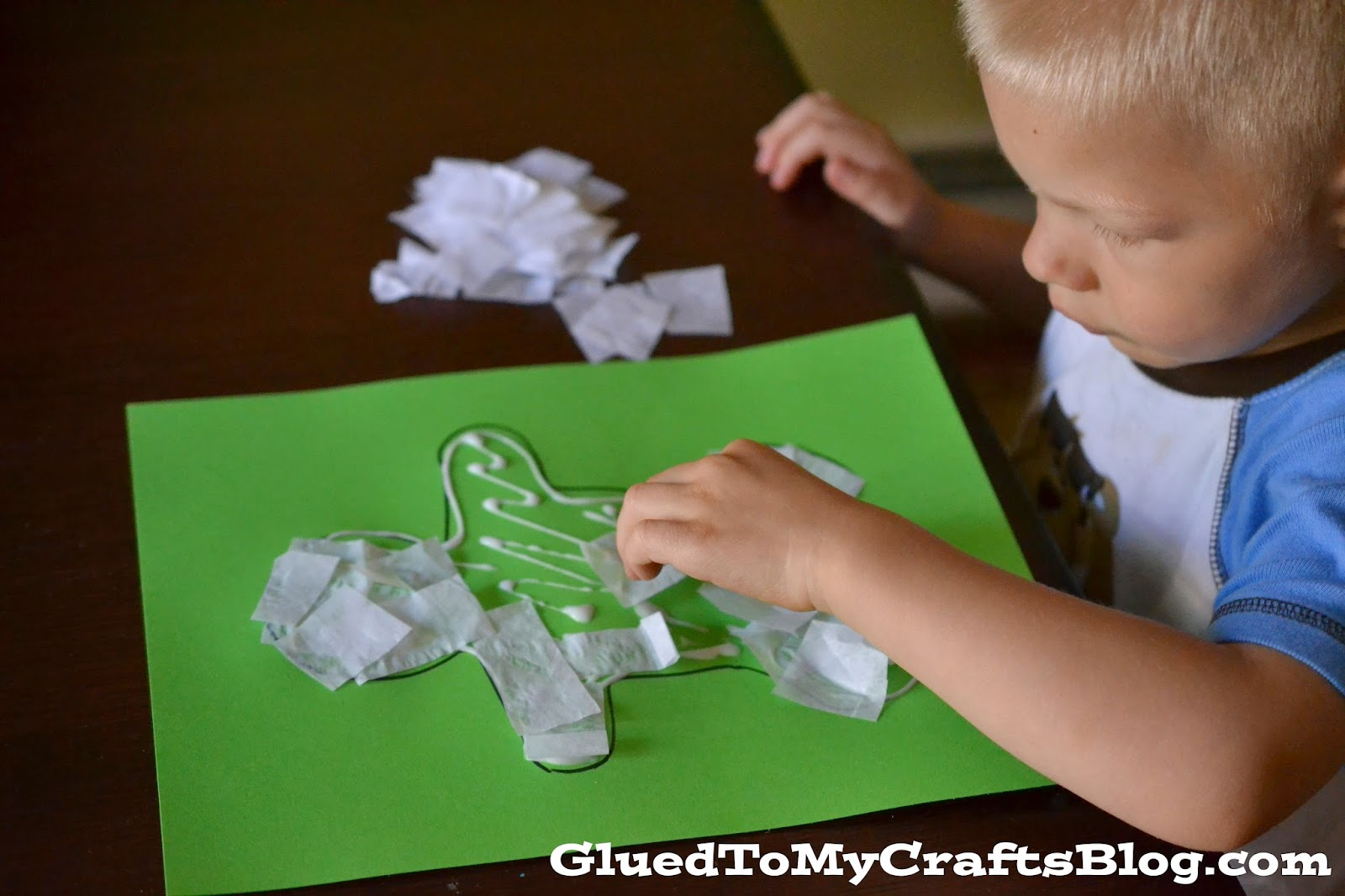Tissue Paper Mummy {Kid Craft}