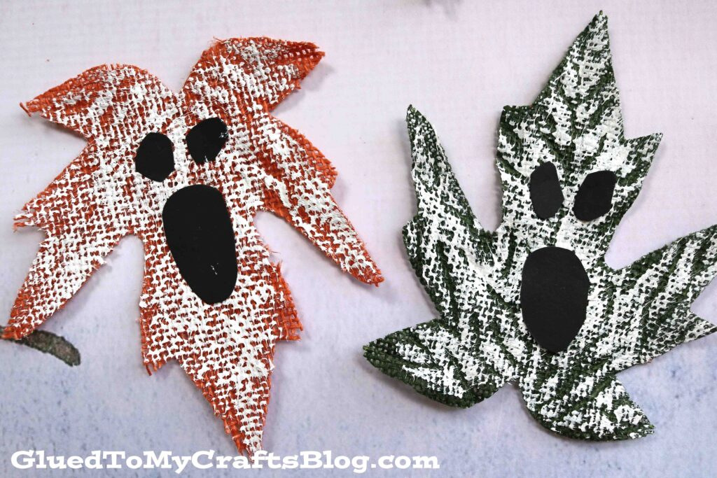 Painted Ghost Leaves - Halloween Craft Activity For Kids