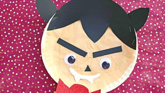 Paper Plate Vampire - Halloween Kid Craft Tutorial
