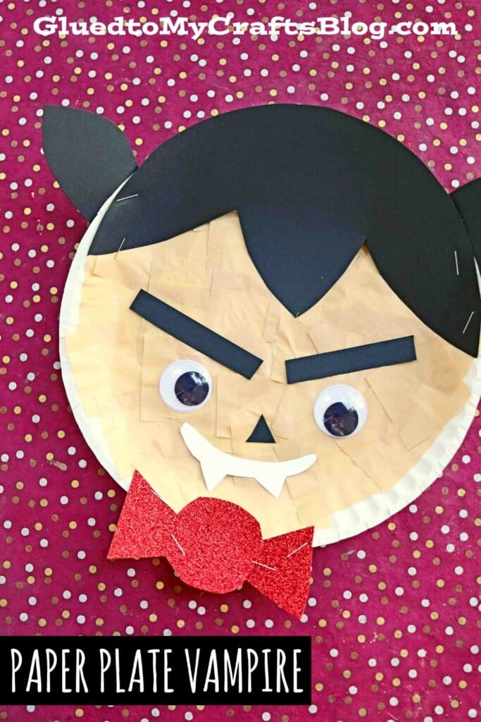 Paper Plate Vampire - Halloween Kid Craft Tutorial