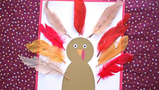 Feather Turkey Kid Craft + Free Printable