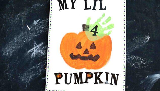 Handprint Pumpkin Keepsake - Kid Craft