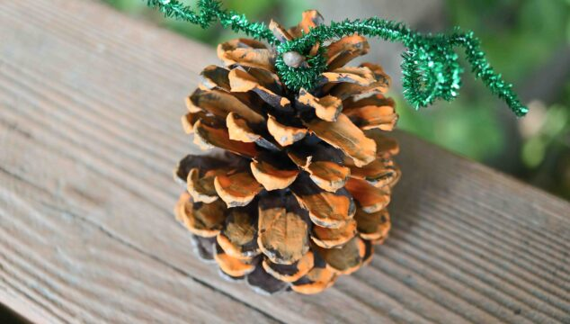 SUPER EASY Pinecone Pumpkin Craft Idea For Fall