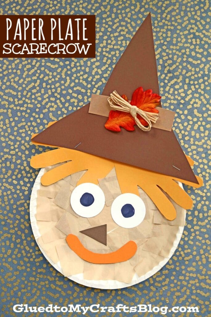 Paper Plate Scarecrow - Awesome Kid Craft Idea For Fall