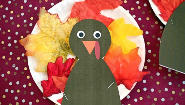Paper Plate Leaf Turkey {Kid Craft}