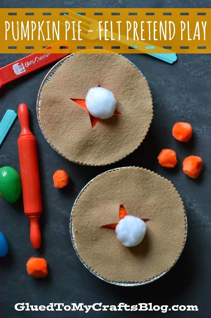 Pumpkin Pie - Felt Pretend Play {Busy Bag Idea}