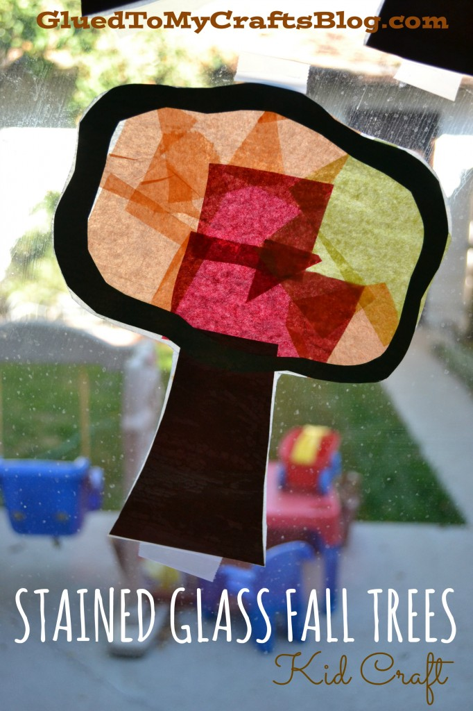 Stained Glass Fall Trees - Kid Craft For Autumn