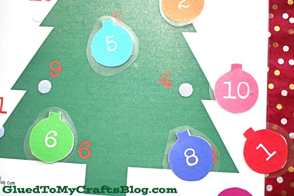 DIY Christmas Tree Busy Bag Game - Free Printable