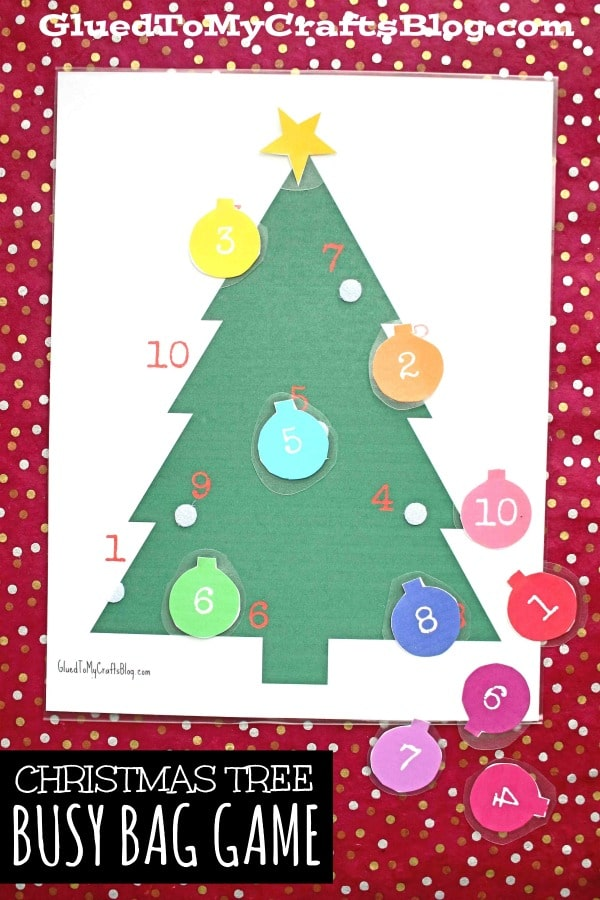 DIY Christmas Tree Busy Bag Game - Free Printable
