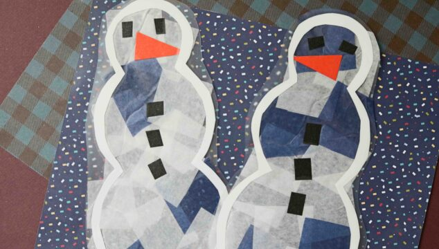 Stained Glass Snowmen + Printable {Kid Craft}
