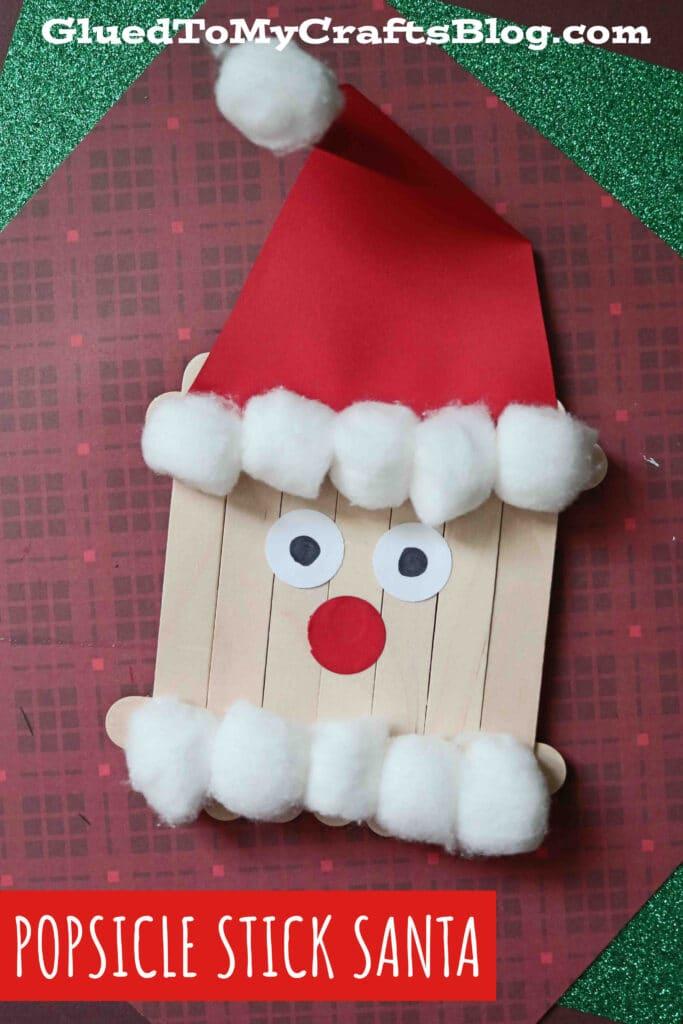 Popsicle Stick Santa - Christmas Kid Craft Idea