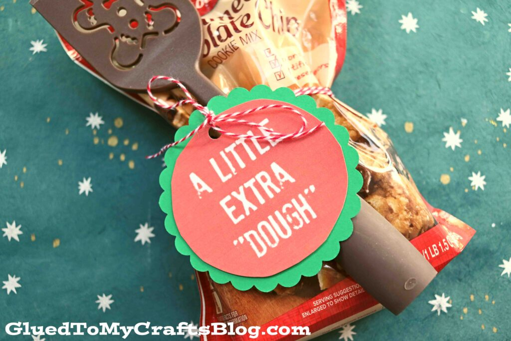 A Little Extra Dough - Punny Gift Tag Printable For Christmas
