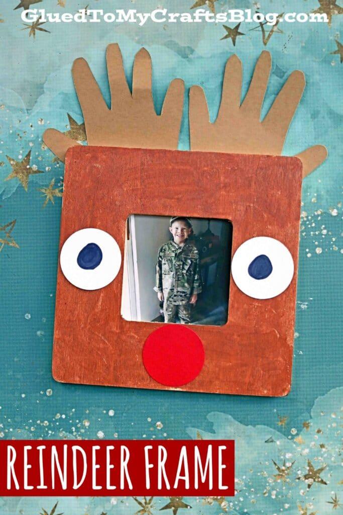 Handprint Reindeer Frame - Kid Craft Idea For Christmas