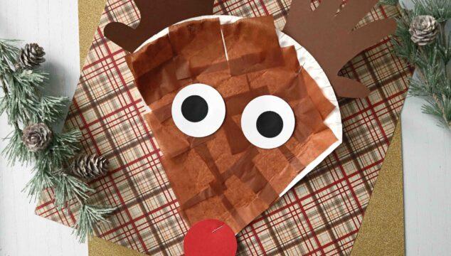 Paper Plate Reindeer - Christmas Kid Craft Idea