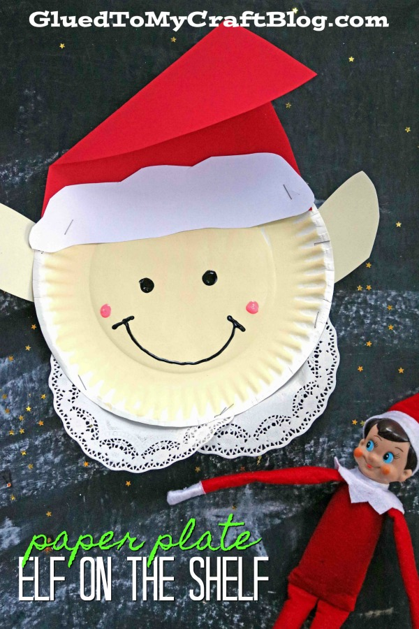 Paper Plate Elf on the Shelf - Christmas Kid Craft Idea